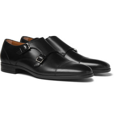 Hugo Boss Kensington Leather Monk-Strap Shoes