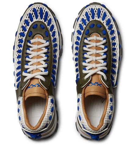 67fa1e85 Ermenegildo Zegna - Claudio Leather and Nylon-Mesh Sneakers