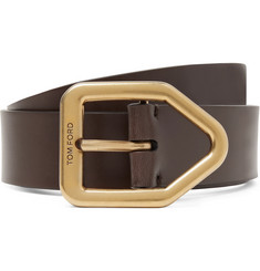 TOM FORD 4cm Brown Leather Belt