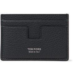 TOM FORD Logo-Debossed Pebble-Grain Leather Cardholder