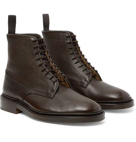Anniversary Edition Cruiser Tramping Leather Boots - Dark brown