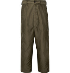 Comme des Garçons HOMME Cropped Colour-Block Cotton-Twill and Ponte Trousers