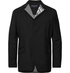 Comme des Garçons HOMME Black Reversible Unstructured Wool and Cotton-Jersey Blazer