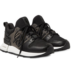 Comme des Garçons HOMME + New Balance MSRC2 GORE-TEX Leather, Ripstop and Mesh Sneakers
