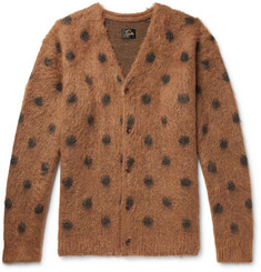 Needles Polka-Dot Mohair and Wool-Blend Cardigan