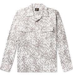 Needles Camp-Collar Printed Sateen Shirt