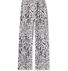 Needles Leopard-Jacquard Track Pants