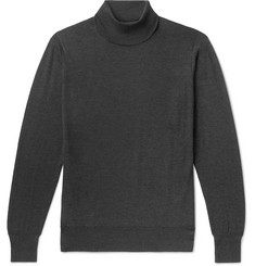 William Lockie Slim-Fit Mélange Cashmere Rollneck Sweater