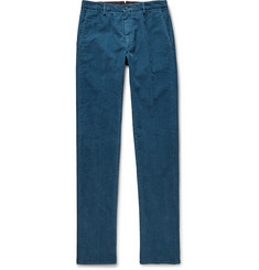 Zanella Noah Garment-Dyed Cotton-Blend Corduroy Trousers