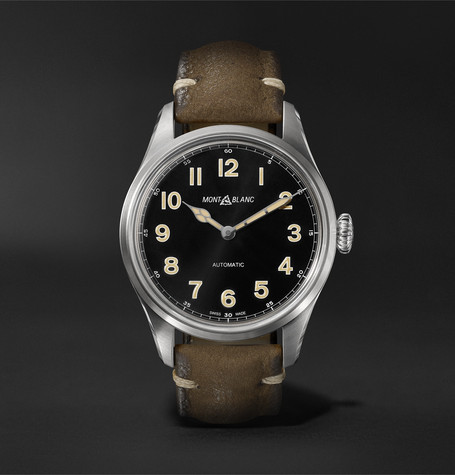 bba66672bdb Montblanc1858 Geosphere Limited Edition Automatic 40mm Stainless Steel and  Nubuck Watch