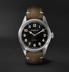 Montblanc - 1858 Geosphere Limited Edition Automatic 40mm Stainless Steel and Nubuck Watch