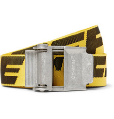 Off-White 3.5cm Yellow 2.0 Industrial Logo-Jacquard Webbing Belt