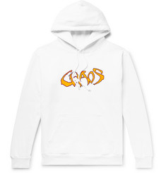 Noon Goons Fleece-Back Printed Cotton-Jersey Hoodie
