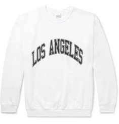Noon Goons Printed Fleece-Back Cotton-Jersey Sweatshirt