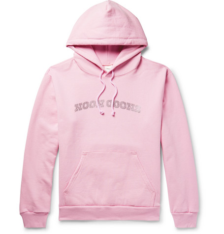 Logo Embellished Fleece Back Cotton Jersey Hoodie by Noon Goons