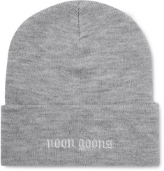 Noon Goons Schiridge Logo-Embroidered Ribbed-Knit Beanie