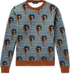 Undercover + Valentino Printed Loopback Cotton-Jersey Sweatshirt