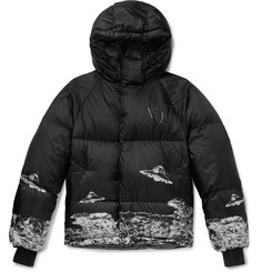 Undercover + Valentino Slim-Fit Printed Quilted Shell Hooded Down Jacket