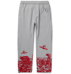 Undercover + Valentino Tapered Printed and Embroidered Nylon-Blend Sweatpants