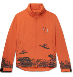 Undercover + Valentino Logo-Embroidered Printed Nylon-Blend Jacket