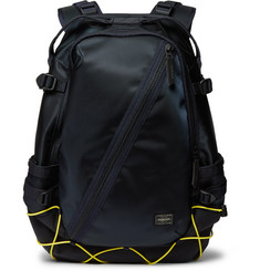 Porter-Yoshida & Co Things Nylon-Twill and Cubic Eye-Piqué Backpack