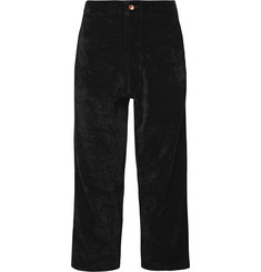 Story Mfg. Black Organic Cotton-Velvet Trousers