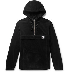 Pop Trading Company Nimbus Cotton-Corduroy Half-Zip Hooded Jacket