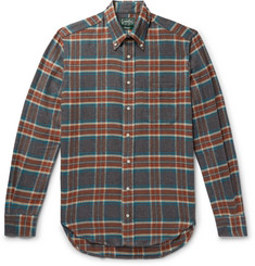 Gitman Vintage - Button-Down Collar Checked Brushed Cotton-Flannel Shirt