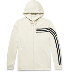 Y-3 Striped Tech-Jersey Zip-Up Hoodie