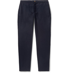 De Bonne Facture Navy Tapered Wool-Twill Drawstring Trousers