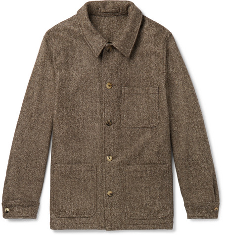 Herringbone Wool Jacket by De Bonne Facture