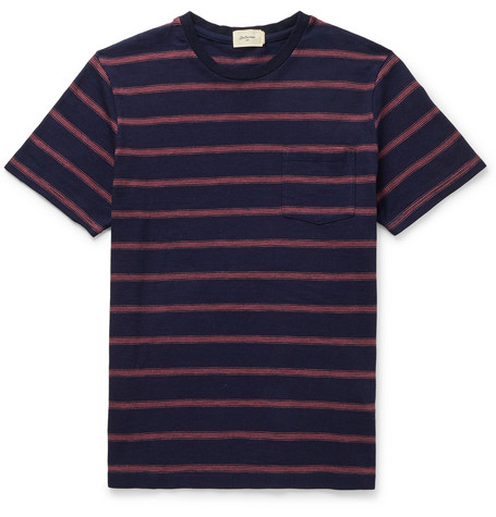 Bellerose Ano Striped Slub Cotton-Jersey T-shirt