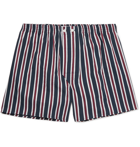 Derek Rose Royal Striped Cotton Boxer Shorts
