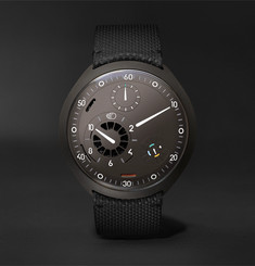 Ressence - Type 2A Mechanical 45mm Titanium and Leather Watch with Smart Crown Technology