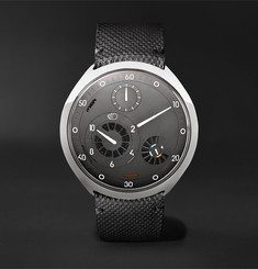 Ressence - Type 2G Mechanical 45mm Titanium and Leather Watch with Smart Crown Technology