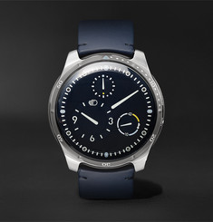 Ressence EXCLUSIVE Type 5 46mm Titanium and Leather Mechanical Watch