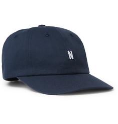 Logo-embroidered Cotton-twill Baseball Cap - Navy