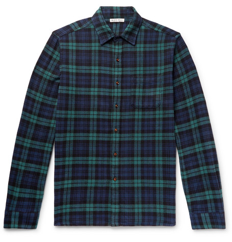 Alex Mill Black Watch Checked Cotton-Flannel Shirt