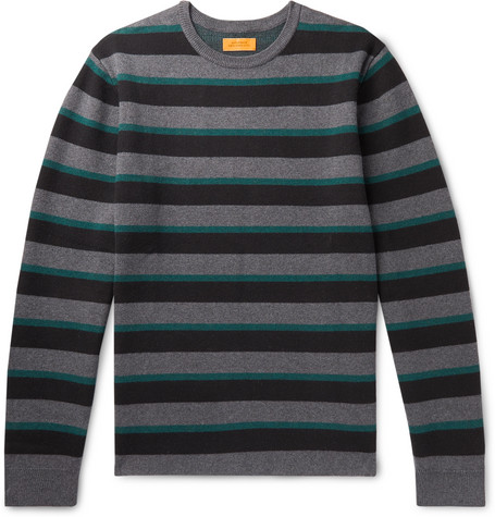 Saturdays Surf Nyc Sweaters LEE STRIPED COTTON AND CASHMERE-BLEND SWEATER