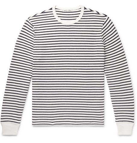 Alex Mill Striped Cotton-Terry T-Shirt