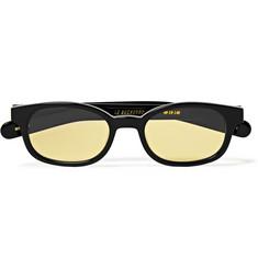 Le Bucheron Rectangle-frame Acetate Sunglasses - Black