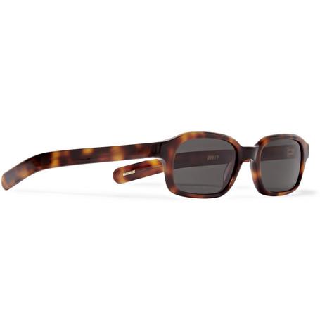 Hanky Rectangular Frame Tortoiseshell Acetate Sunglasses by Flatlist