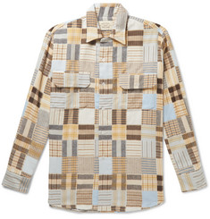 Holiday Boileau Patchwork Checked Cotton-Flannel Shirt