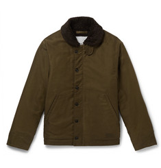 President's - Faux Shearling-Lined Cotton-Canvas Jacket