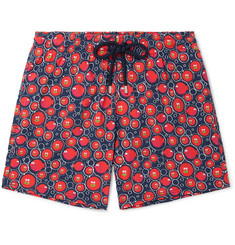 Vilebrequin Moorise Crackers Mid-Length Printed Swim Shorts
