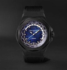 Girard-Perregaux Laureato Absolute WW.TC Automatic 44mm PVD-Coated Titanium and Rubber Watch