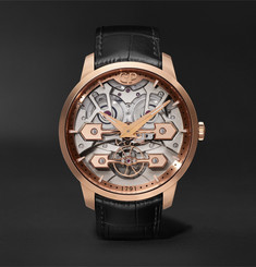 Girard-Perregaux Classic Bridges Automatic Skeleton 45mm Rose Gold and Alligator Watch