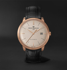 Girard-Perregaux 1966 Automatic 40mm 18-Karat Rose Gold and Alligator Watch