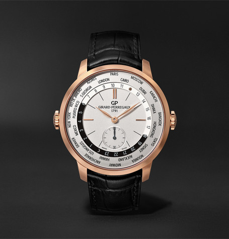 Girard-Perregaux 1966 WW.TC Automatic 40mm 18-Karat Rose Gold and Alligator Watch
