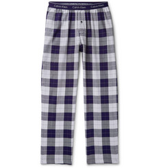 Calvin Klein Underwear Checked Cotton-Blend Flannel Pyjama Trousers